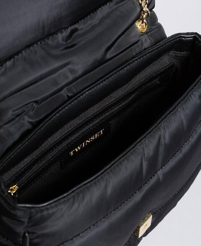 Tracolla in nylon con catena e charms Nero Donna AA8PFC-04