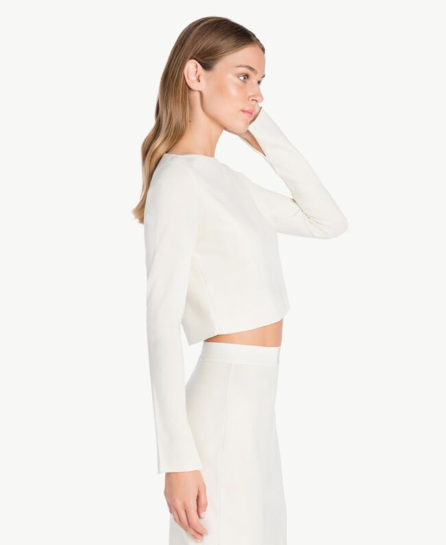 Pull court Blanc Cachemire Femelle PA7361-01