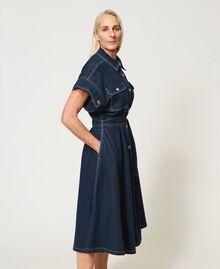 "'Antares"" denim shirt dress Dark Denim Woman 211MT211C-03"