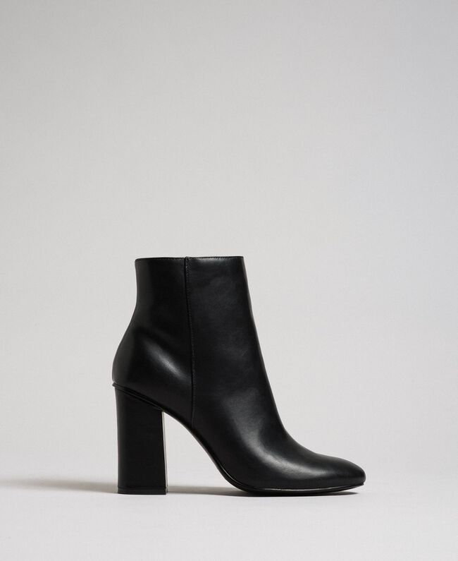 Faux leather ankle boots Black Woman 192MCT030-01