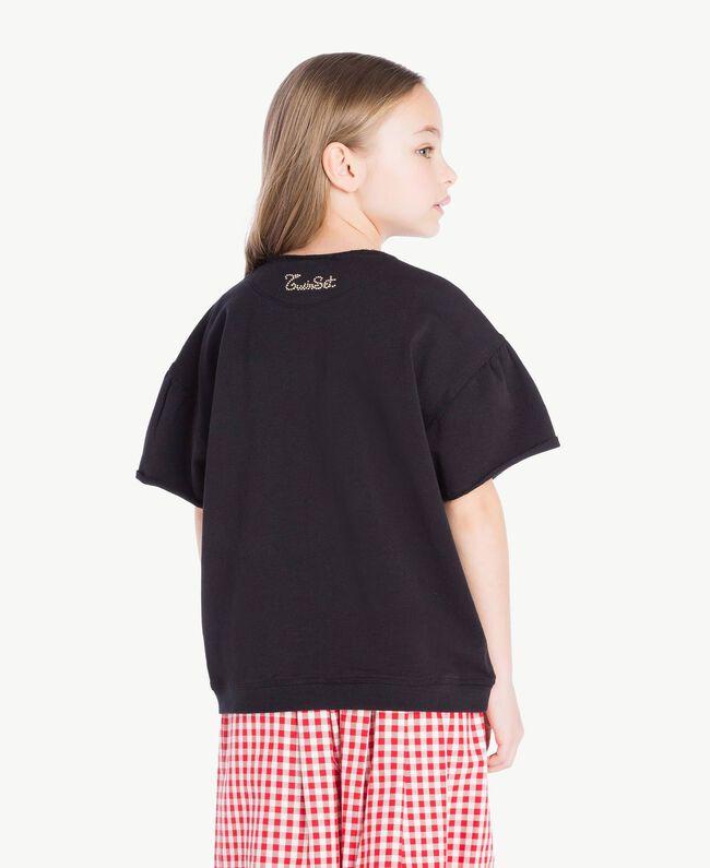 Sweatshirt mit Pailletten Schwarz Kind GS82RB-04