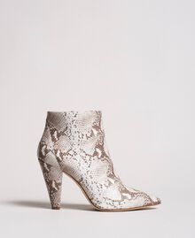 Leather ankle boots Ice Python Print Woman 191TCP13C-01