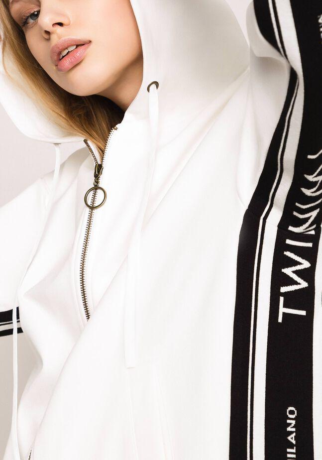 Maxisweatshirt mit Jacquardlogo