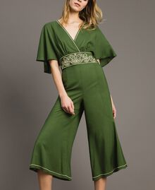 Top cropped in viscose Verde Amazzonia Donna 191LM2RFF-0T