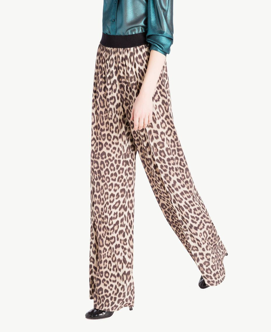 Animal print trousers Animal Print Woman PS82VC-02