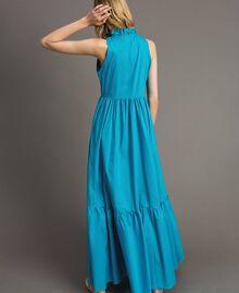 Robe longue en popeline Bleu Céramique Femme 191TT2233-03