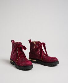 Laminated leather ankle boots Laminated Ruby Wine Print Child 192GCJ042-01