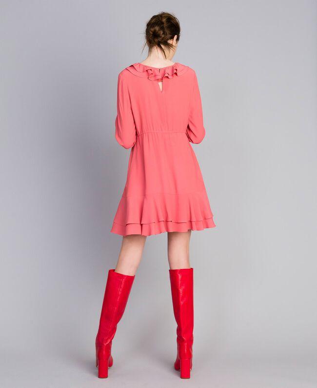 Short silk blend dress Royal Pink Pink Woman PA827A-03