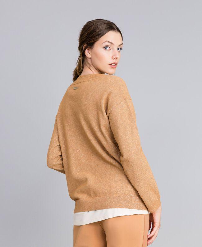 "Lurex yarn jumper ""Amber Dust"" Brown Woman IA82LL-03"