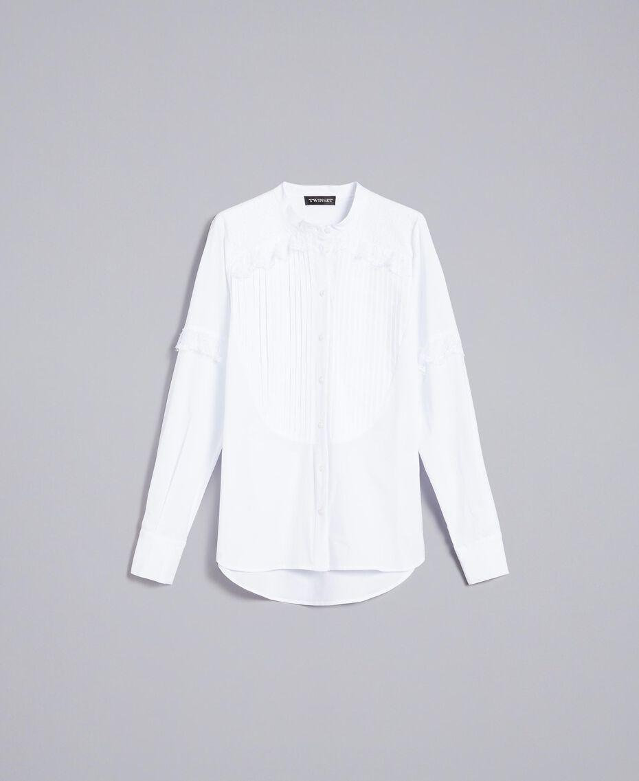 Camicia in popeline di cotone Bianco Donna TA82XP-0S