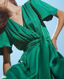 Long satin dress with draping Python Woman 202TP2620-04