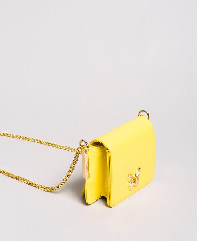 Petit Bea Bag à bandoulière en cuir Jaune Papillon Femme 191TA7142-03