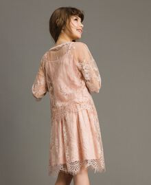 Jersey dress and lace blouse Blossom Pink Child 191GJ2740-03