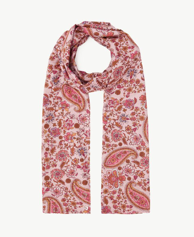 "Printed scarf ""Hippie Arabesque"" Print Woman OS8T2U-01"