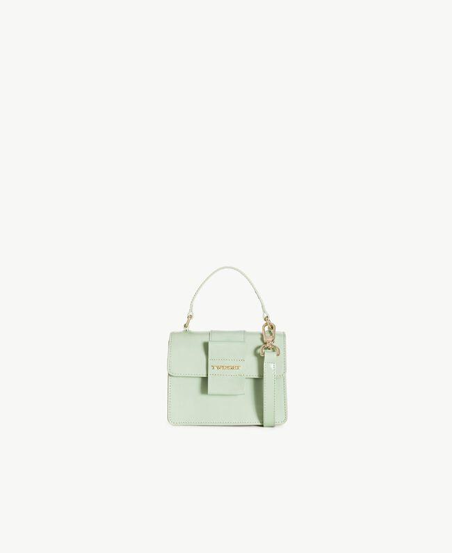 TWINSET Patent leather shoulder bag Fern Green Female OA7TJB-01