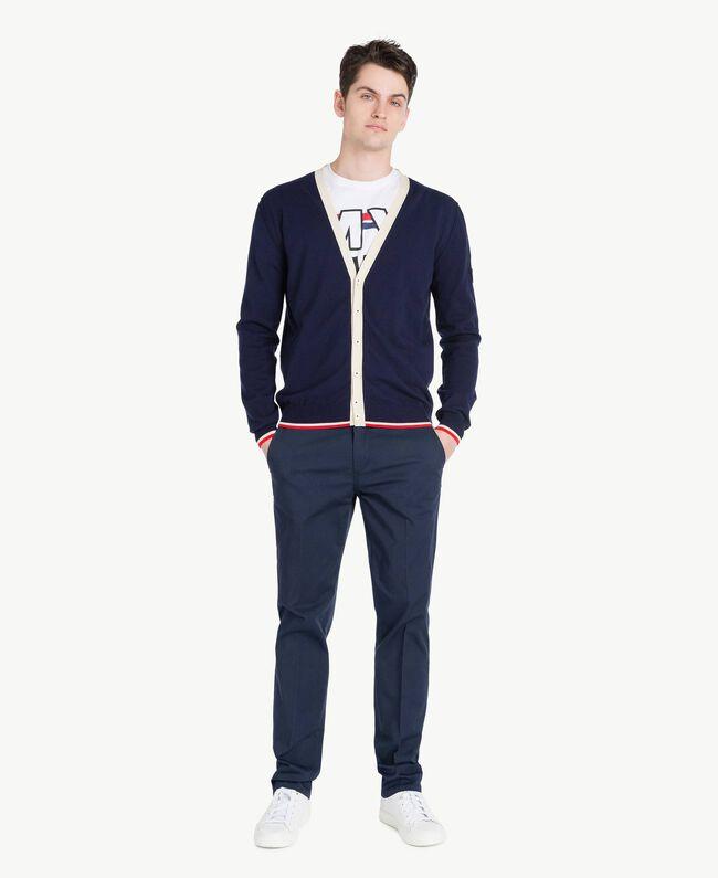 Pantalone chino Blu Blackout Uomo US824N-05