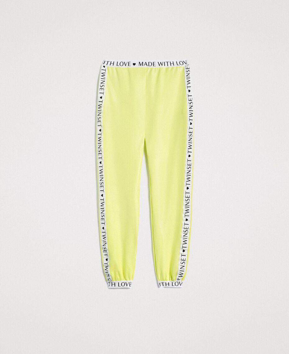 """Pantalon en molleton avec bordures marquées Jaune """"Jus De Citron"""" Femme 191LL28FF-0S"""