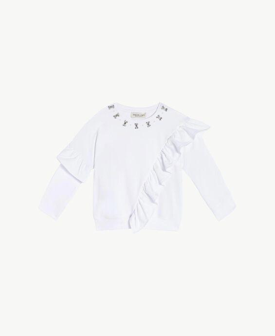 Maxi sweat-shirt strass
