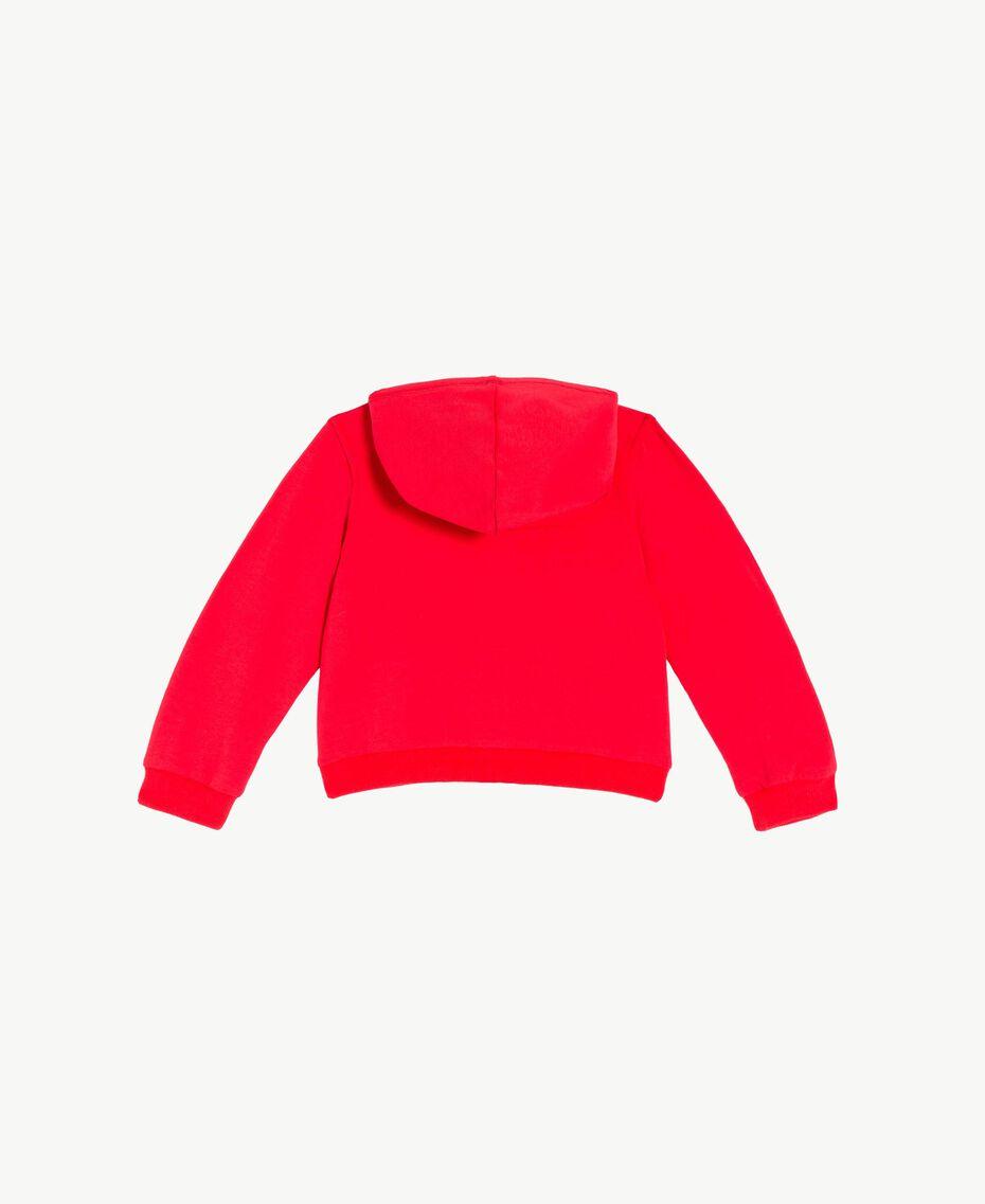 Logo sweatshirt Two-tone Pomegranate Red / Chantilly Flowers Child FS82SN-02