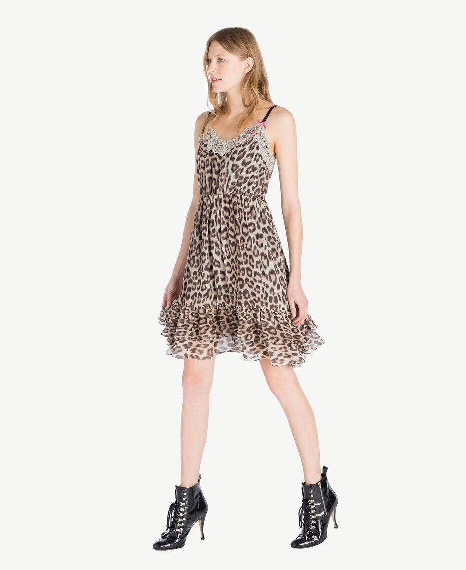 Animal print dress Animal Print Woman PS82VA-02