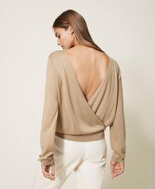 Jersey de seda y cachemira Beige Cáñamo Mujer 202TP3471-06