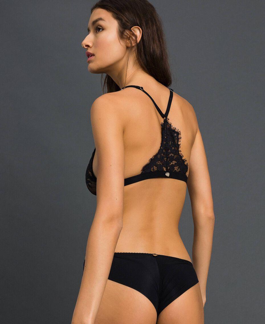 Culotte brésilienne en dentelle Noir Femme 192LI6177-03