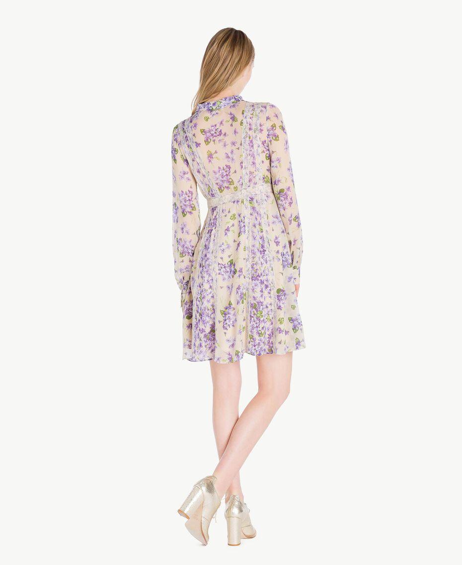 Kleid mit Print Printmix Veilchenlila Frau PS82X1-03
