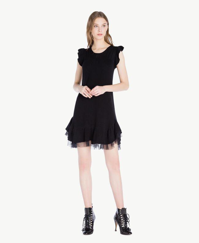 Openwork dress Black Woman PS8311-01