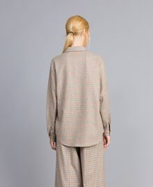 Printed flannel shirt Multicolour Check Woman TA8215-05