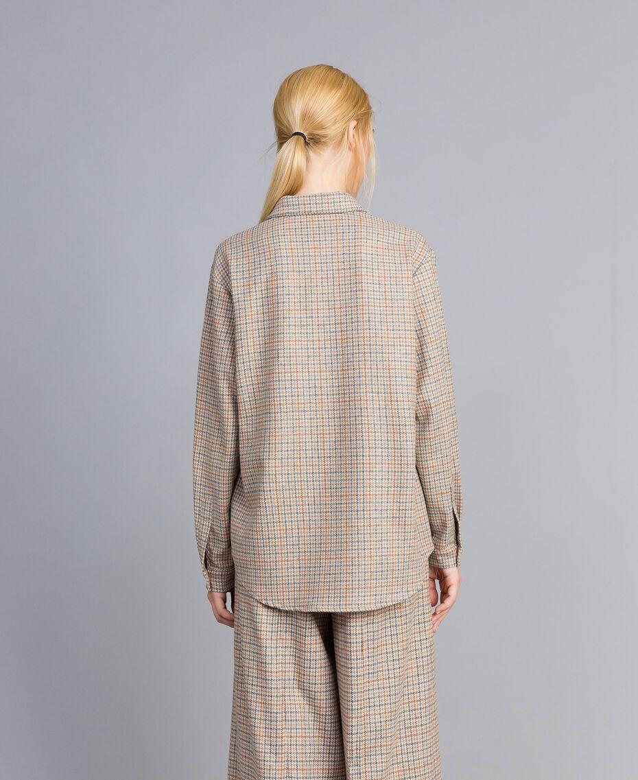 Camicia in flanella a fantasia Multicolor Quadri Donna TA8215-05