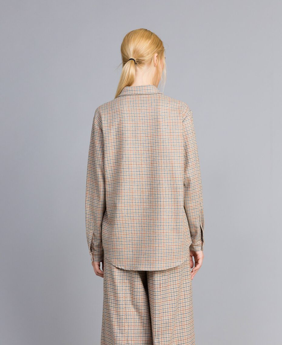 Printed flannel shirt Multicolour Check Woman TA8215-05