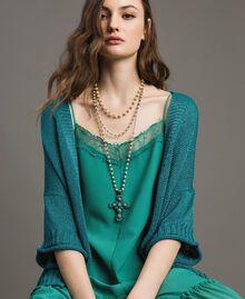 Rosario con perle e croce pendente Tile Blue Donna 191TO534G-0S