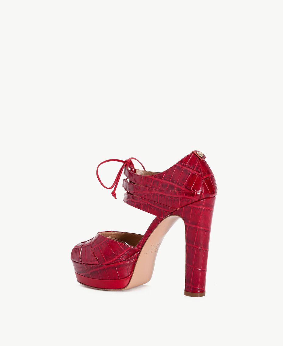 TWINSET Sandales croco ruby Femelle CA7PCG-03