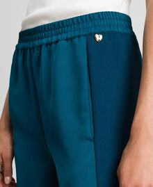 "Palazzo trousers with contrasting bands ""Lake"" Blue Woman 192MP2352-04"