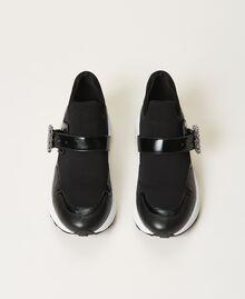 Кроссовки с ювелирной пряжкой Черный женщина 202TCP012-05