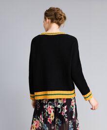 Pull en laine mélangée Noir Femme PA83HR-03
