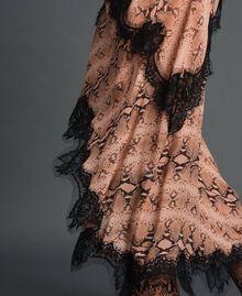 Animal print georgette long dress Canyon Pink Python Print Woman 192TT2271-06