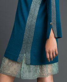 Robe avec bandes en lurex et fond de robe Bleu «Lake» Femme 192MP3100-03