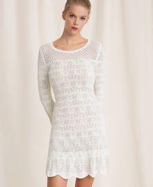 Lace effect knit dress White Snow Woman 201TP3210-03
