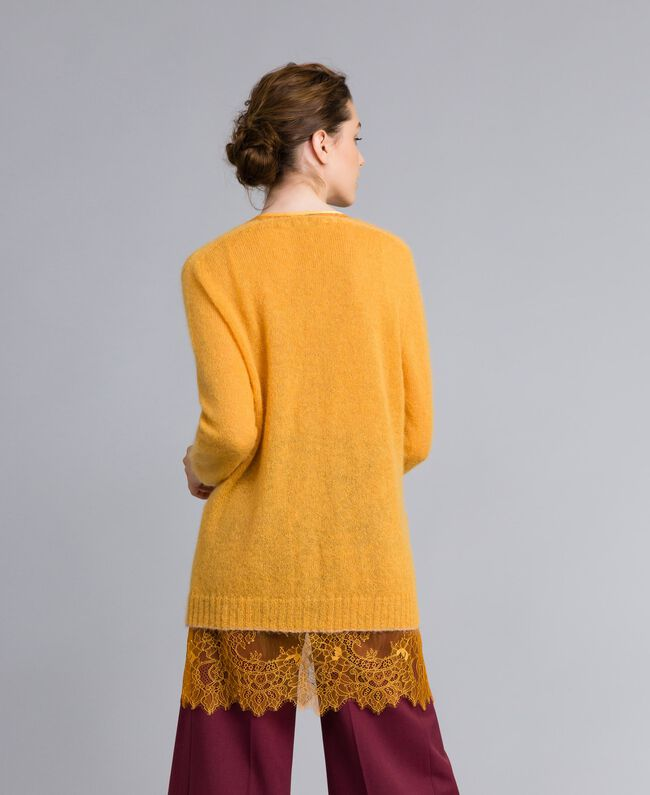 Cardigan in mohair con top in pizzo Brandy Donna PA836D-03