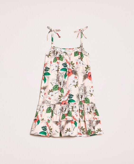 Kleid aus Popeline mit Print