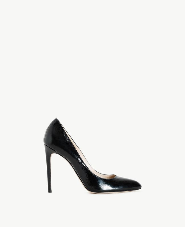 TWINSET Patent leather court shoes Black Woman CS8PLA-01