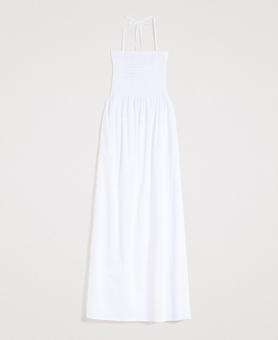 """Robe longue en popeline """"Jus d'Orange"""" Femme 191LM2CHH-0S"""