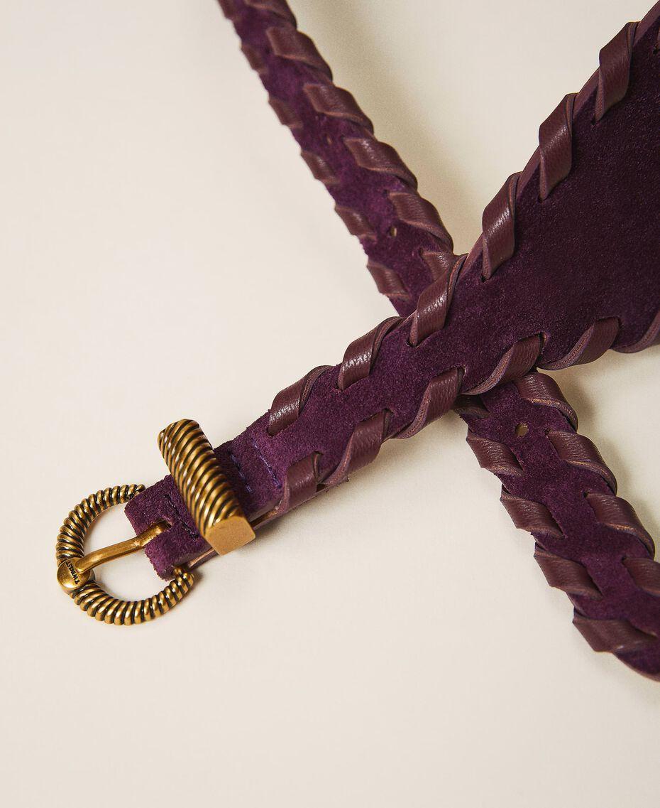 Suede belt Dark Shiny Purple Woman 202TO5017-03