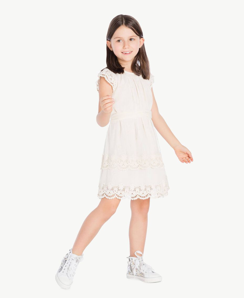 Lace dress Pale Cream Child GS8LAN-02