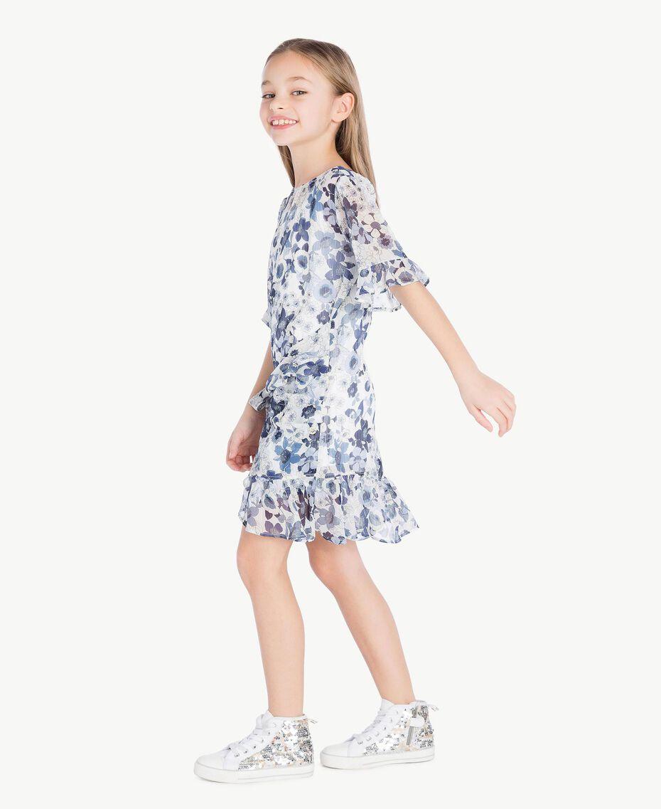 Robe imprimée Imprimé Floral Bleu Océan / Bleu Enfant GS82V2-03