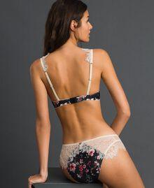 Бюстгальтер 'пуш-ап' с цветочным принтом и кружевом Набивной Цветочный Черный женщина 192LI6544-03