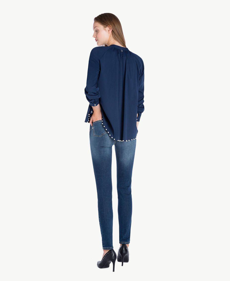 Jean skinny strass Bleu Denim JA72S4-03