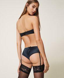 Valenciennes lace bandeau bra Black Woman 202LL6H11-04