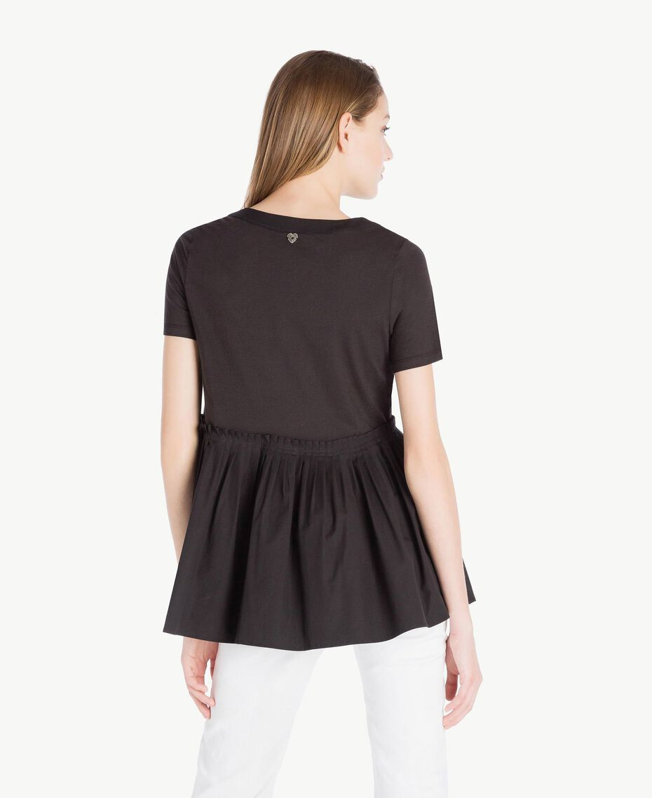T-Shirt aus Jersey Schwarz Frau TS821J-03